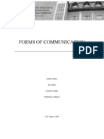 Written Version-Forms of Communication