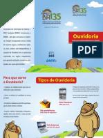 BR135 - Folder Ouvidoria