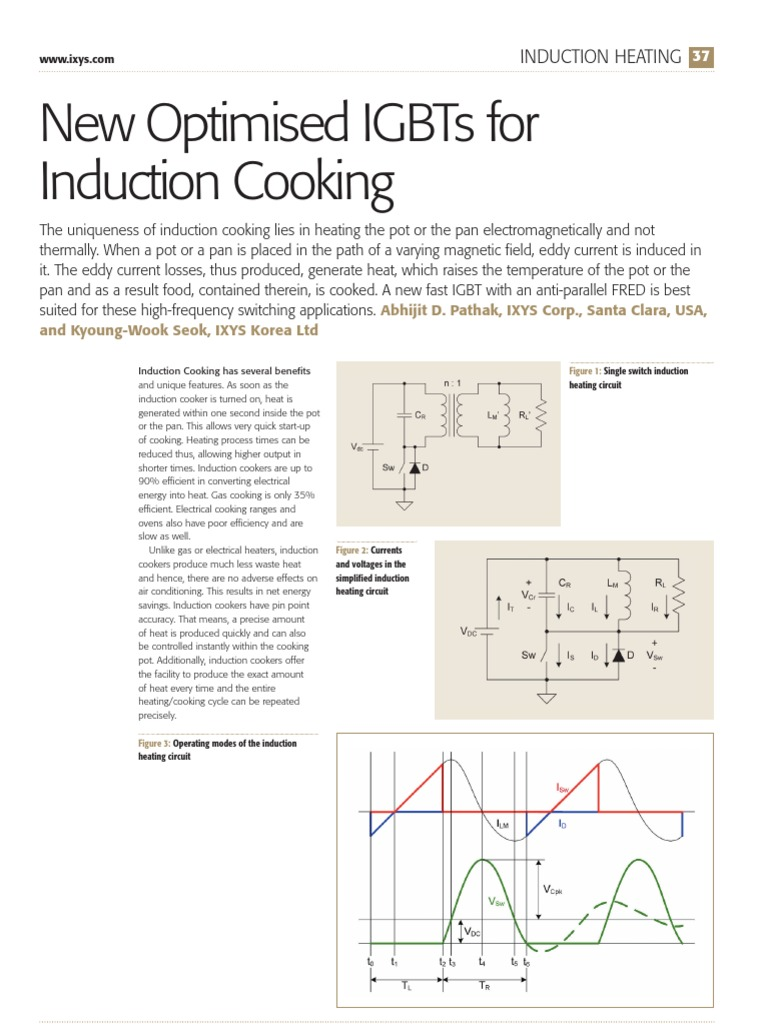 1222886532 Pee Issue 1 2007 Induction Heating New Optimised Igbts Cooker Schematic Circuit Diagram For Cooking Inductor Electromagnetic