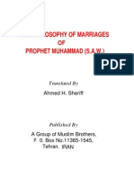 The Philosophy of Marriages of Prophet Muhammad (s.a.w)