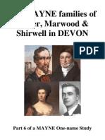 The MAYNE families of Exeter, Marwood & Shirwell, DEVON