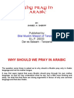 Why Pray in Arabic?