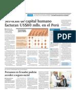 Servicios de capital humano facturan US 80 mlls. en el Perú