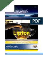 Report on Lipton Tea a (m.com .x)