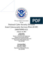 National Cyber Security Division - Joint Cyber Security Services Pilot (JCSP)