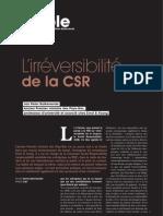 Jan Peter Balkenende. L'irréversibilité de la CSR