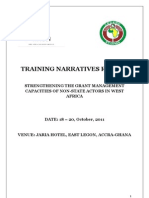 ECOWAS Grant Management Training for Non State Actors in West Africa - Training Narrative Report (October, 2011)