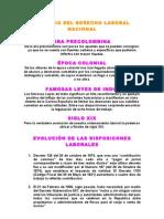Historia Del Derecho Laboral Nacional