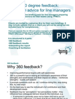 360 Degree Feedback - Advice to Line Managers
