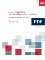 SPSS Programming and Data Management, 2nd Edition