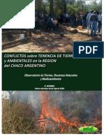 Conflictos de Tierra y Ambient Ales Datos Relevados Hasta Agosto 2010