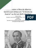 Trabalho Sobre a Obra de Alberico Gentili (