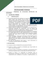 ESPECIFICACIONES TÉCNICAS DE LAS ESTRUCTURAS METÁLICAS