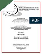 Montgomery County Latino Civic Leadership Conference Program/Programa de la Conferencia Latina de Liderazgo Cívico del Condado de Montgomery