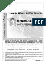 Cespe - TRE - PR - Técnico judiciário - 2010