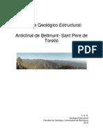 Geo Estructural Anticlinal de Bellmunt