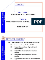 1.0 Introduction to Physical Geodesy(2012)