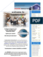 GSS Toastmaster Newsletter Issue 1
