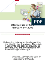 Effective Use of GDB