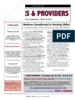 Payers & Providers California Edition – Issue of February 2, 2012