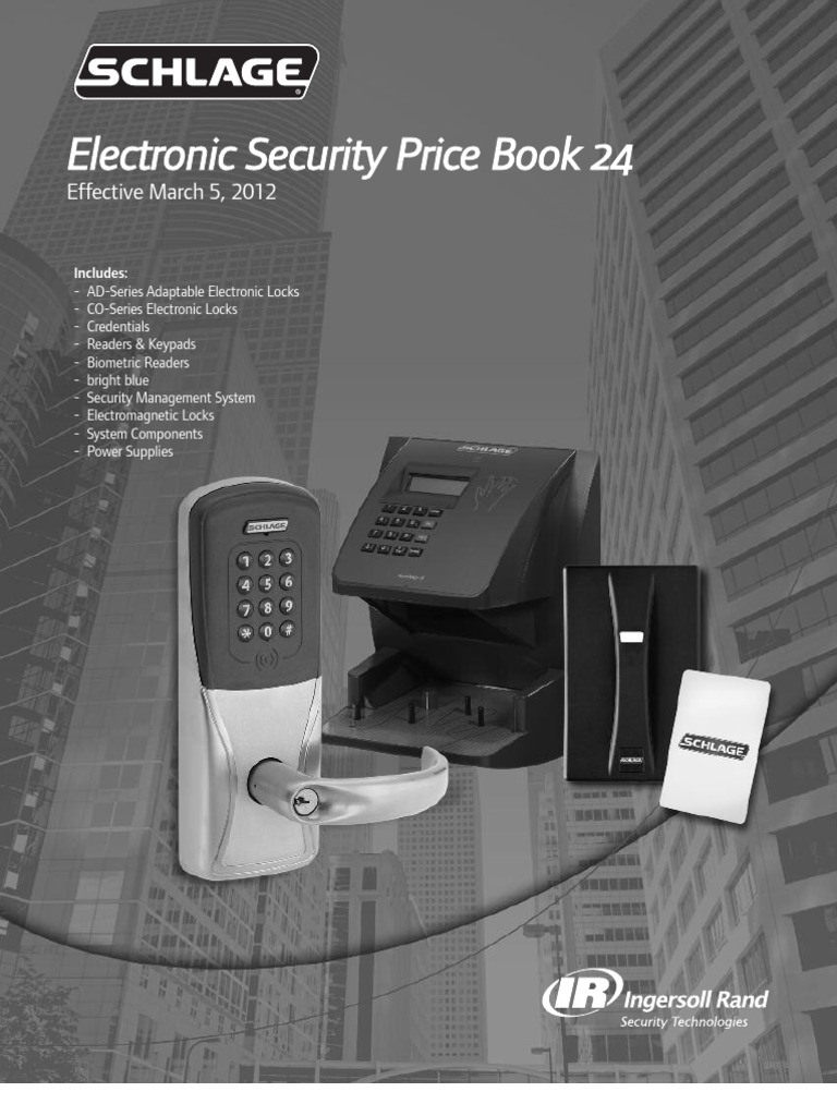 Schlage Electric Price Book 2012 Damages Intellectual Property Fa 900 Wiring Diagram