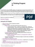 Creative and Critical Thinking Handbook