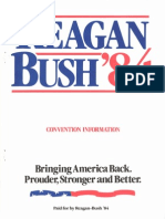 Reagan Bush 1984 Presidential Nominating Convention Guide