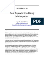 Post Exploitation Using Meterpreter