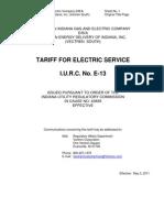 Vectren-Corp-Vectrenâ??s-Electric-Tariff