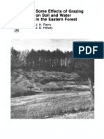 Some Effects of Grazing Forest Service on Soil and Water in the Eastern Forest - Part 2