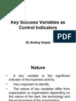 Copy of Key Success Variables as Control Indicators