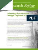 Measuring Critical Loads of Nitrogen Deposition in the U.S.
