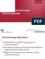 Analysing and Measuring Business Growth