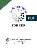 TOR CDR Manual