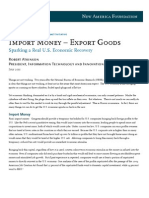 Import Money- Export Goods