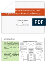 Common Growth Models and Their Applications in Plantation