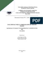 Guía de Tesis de Grado Carrera de Ing. Forestal UAGRM