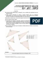 Soma dos ângulos internos do triângulo