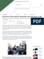 Exclusivo Entrevistamos Integrantes Do Anonymous No Brasil