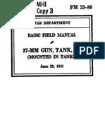 FM-23-80  37MM GUN TANK M5