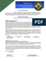 ESW 2012 Tutorial Program for Web Rev 15Dec