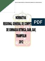 Normativa Regional General de Competiciones de GR, GAM, GAF, TRAMPOLIN 2012. Doc