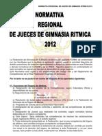 normativa de jueces 2012