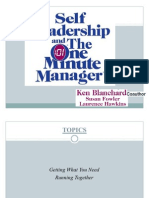 Self Leadership And One Minute Manager