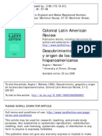 descubrimiento, geografía y origen de los discusos hispanoamericanos