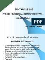 ANEMIE HEMOLITICA MICROSFEROCITARA