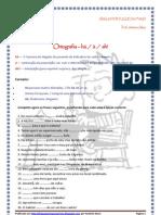Ortografia - exercícios com am e ão e há, à e há (blog7 10-11)