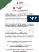 Nota de Prensa Nº 1 - Lourdes Yana 2012
