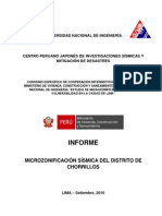 Informe Microzonificacion Sismica Chorrillos