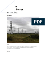 Guide to Electric Power in Ghana